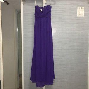 Bridesmaid floor length strapless sweetheart dress